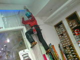 Climbing in the shop
