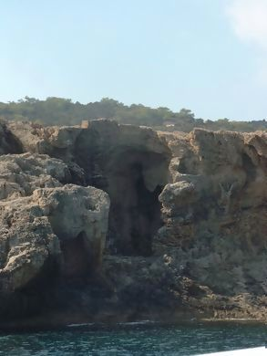 On boat & caves - Akamas peninsular