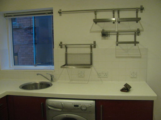 One empty flat - one kitchen/sorting area!