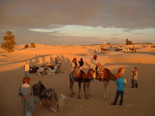 Sahara dusk...a magical light