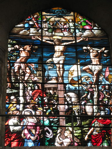 stained glass from Norwich cathedral