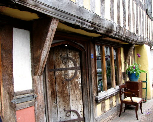 superb timber frame building and what a door!