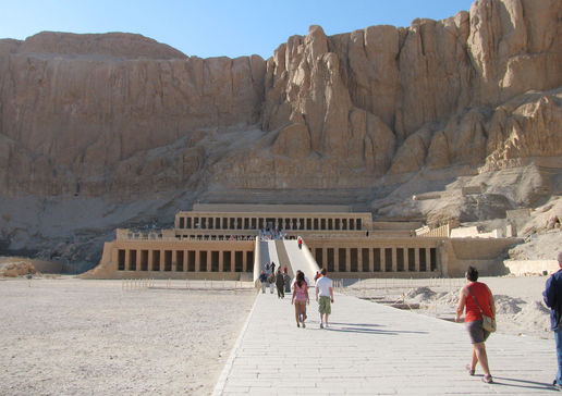 Temple of Hatshepsut the only female pharoah.