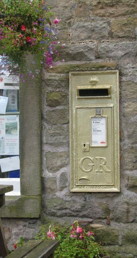 The 'gold' postbox.