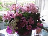 Birthday flowers from my builder - taken a week on when the lilies came out:)