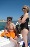 Elena fell for a joke by our guide and ended up with strange headgear!