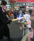 Light Sabre 'fighting' in Dundas Square