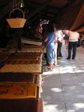 Granada, it was a holiday - cake and bread stalls