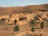 The mountain desert -Matmata - a region of troglodyte villages