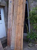 the old pine floorboards from the bedrooms which will be trimmed and relaid in the dining room and hall