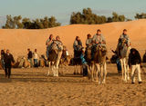 The Sahara- we opted for horse and cart but they still made us dress up!