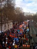 Rally passing by embankment.