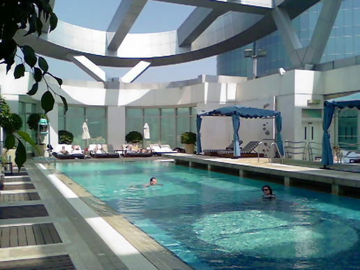 My pool, 40th floor.
