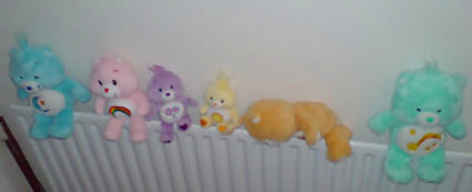 Care Bears all in a row..