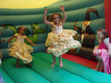 Bell x2 on a bouncy castle