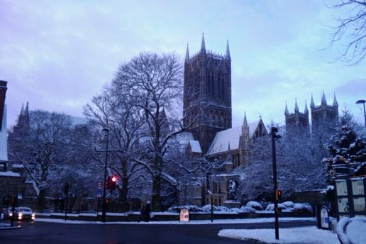 Snowy Catherdral