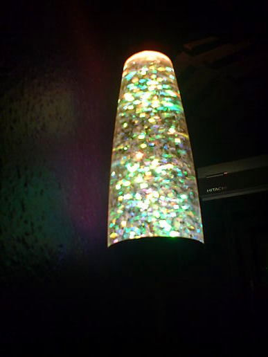 The lamp of glittery lava!