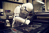 Stormtrooper doing Letterpress