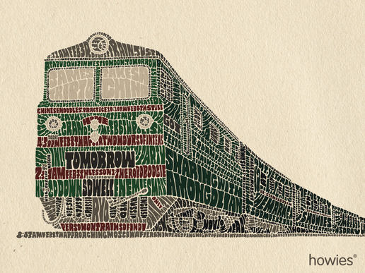 Train Illustration for Howies