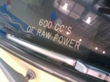 600 cc's of RAW POWER