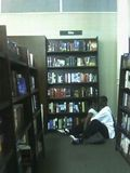 Making out in the bible section.