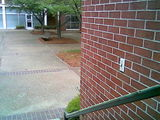 This switch turns the Skiles courtyard on and off.