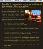 Zombie Symposium: now in web syndication